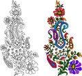 Free Indian Textile Motif Royalty Free Stock Photos - 25786948
