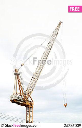 Hoist crane Stock Photo
