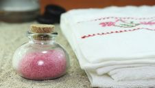 Free Aromatic Bath Salts Royalty Free Stock Photo - 25780245