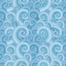 Sea Wave Seamless Pattern Royalty Free Stock Photos