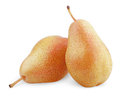 Free Two Ripe Red Yellow Pear Fruits Royalty Free Stock Photos - 25792558