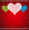 Free Abstract Color Pixel Heart Mosaic Background Royalty Free Stock Photo - 25794755