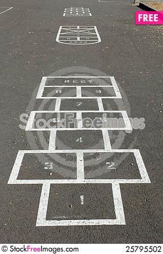 Hopscotch Courts Stock Photo
