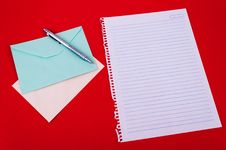 Envelope Of Correspondence Stock Image