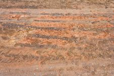 Free Surface Of Ground At The Road Wheels And Tracks. Royalty Free Stock Image - 25797936