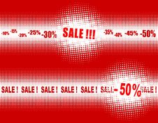 Free Halftones - Banners For SALE Stock Photography - 25798062