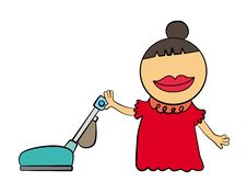 Free Vacuum Cleaning Royalty Free Stock Images - 25798629