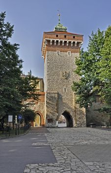 Free Florian's Gate In Krakow, Poland Stock Images - 25799054