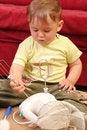Free Little Blond Baby Boy Stock Photo - 2582350