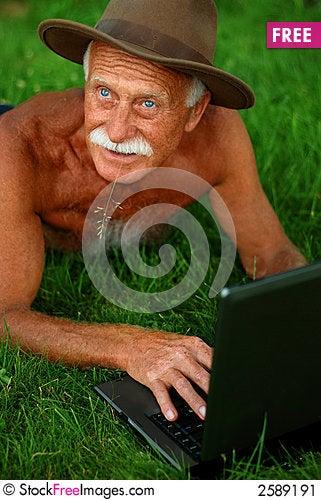 Handsome senior man Stock Photo