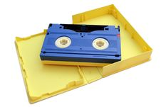 Free Blue Cassette On Yellow Cover Stock Photos - 2580153