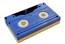 Free Blue Isolated Cassette Royalty Free Stock Photography - 2580157