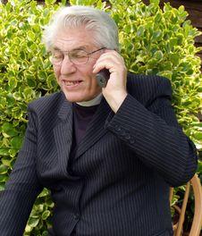 Vicar Speaking Royalty Free Stock Images