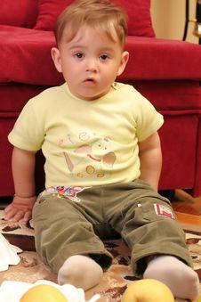 Free Little Blond Baby Boy Stock Photos - 2582423