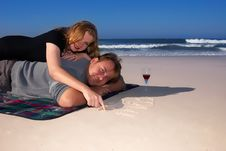 Free Married Couple On The Beach Stock Photography - 2582622