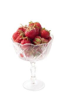 Free Vase With Strawberries Royalty Free Stock Photos - 2583558
