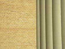 Brick Wall And Pillars Royalty Free Stock Photography