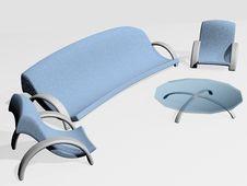 Free Blue-grey Furniture Set 2 Stock Photo - 2583890