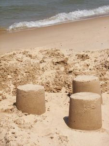 Free Sand Sculptures On The Beach Stock Images - 2584254