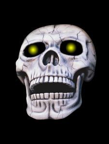 Free Skull With Glowing Eyes Royalty Free Stock Image - 2585776
