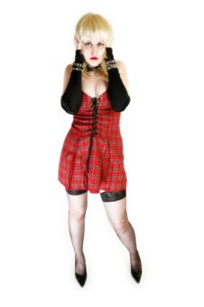 Free High Key Goth Beauty Royalty Free Stock Photography - 2587457