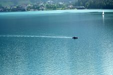 Free Motor Boat On The Lake Stock Photography - 2587642