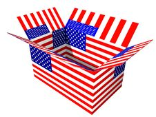 Free USA Flag Box Stock Image - 2587661
