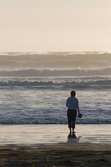 Free Woman On Beach Stock Photography - 2588002