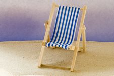 Free Beach Chair Royalty Free Stock Image - 2588506
