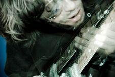 Rocker Playing Guitar Royalty Free Stock Image