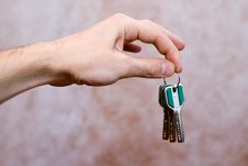 Free Keys In The Hand Stock Photography - 2589062