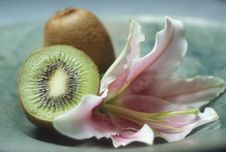 Kiwi Flower Royalty Free Stock Photos