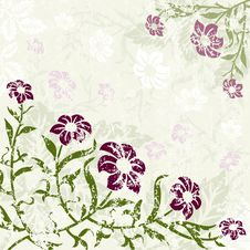 Floral Background With Grunge Royalty Free Stock Photo