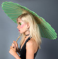 Free Teen In Fancy Makeup With Parasol Stock Photos - 25805303