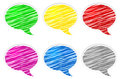 Free Round Speech Bubbles Royalty Free Stock Photo - 25809185