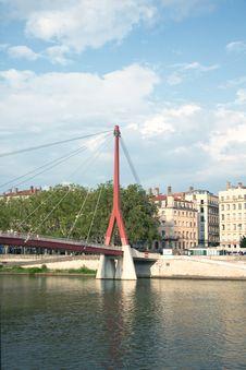 Free Footbridge Palais De Justice, Lyon, France Stock Photography - 25802892