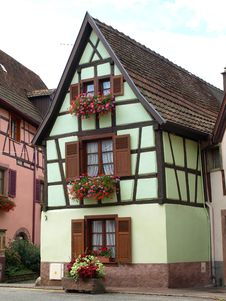 Free Alsace Houses 5 Royalty Free Stock Photos - 25803168