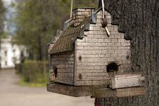 Free Birdhouse For  Birds Royalty Free Stock Photography - 25803367