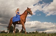 Free Woman With  Horse Stock Photos - 25805103