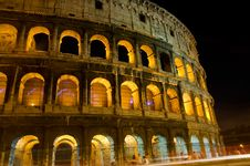Free Colosseum Rome At Night Stock Image - 25805941