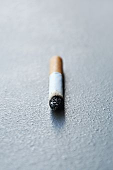 Free Stub Of Cigarette On The Ground Royalty Free Stock Image - 25807996