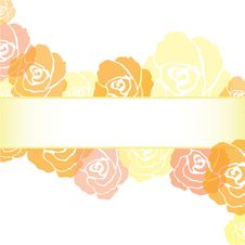 Yellow Roses Frame Background Stock Photography