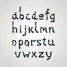 Free Ink Alphabet Royalty Free Stock Photo - 25809485
