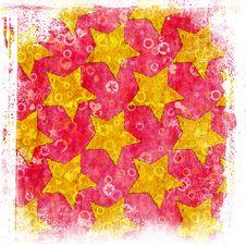 Free Grunge Stars Background Stock Images - 25815024