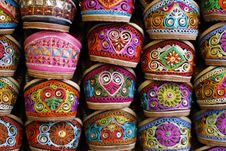 Vibrant Indian Shoes Royalty Free Stock Images