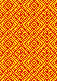 Free CrossStitch-kolovrat-slavic-pattern Stock Images - 25817244