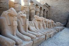 Free Karnak Ram Statues Stock Images - 25817474