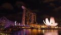 Free The Marina Bay Waterfront, Panorama View Stock Images - 25825214