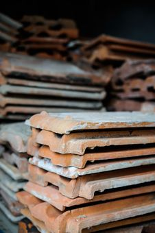 Free Stack Of Tiles Royalty Free Stock Photo - 25820145