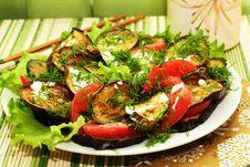 Free Fried Eggplants Stock Image - 25821971